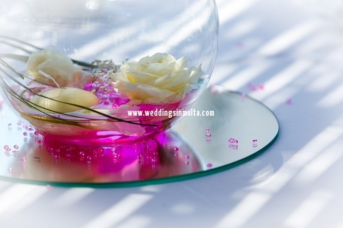 Malta Wedding Table Centrepieces (10)