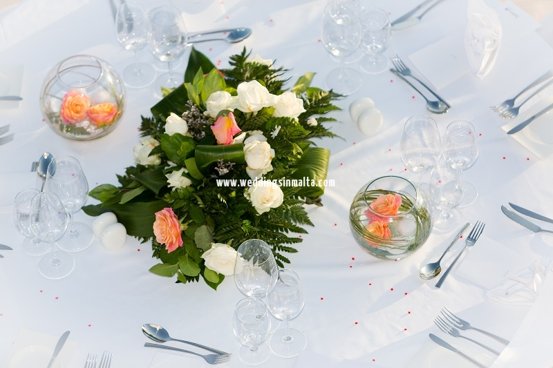 Malta Wedding Table Centrepieces (53)