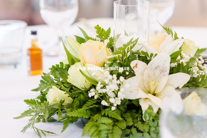 Malta Wedding Table Centrepieces (8)