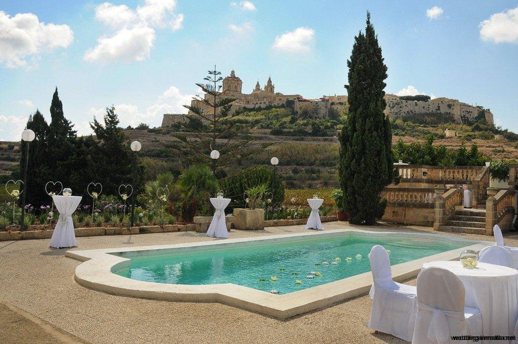 Weddings in Malta - Pool terraces