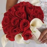 Malta wedding flowers red roses